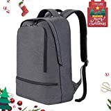 REYLEO RB03 Laptop Backpack for Men Women Fits 15.6 Inch Laptop, Water Resistant Casual Daypack for Work Travel School College Business Trip Commute, 21L (Grey)