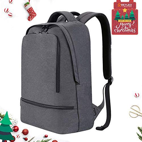 REYLEO Zaino per PC, RB03 E Laptop Portatile Backpack Casual Impermeabile Unisex per La Scuola e Il Lavoro Fino a 21L (Grigio)