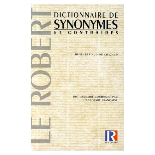 Dictionnaire des synonymes et contraires