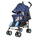 JIANXIN Der Kinderwagen Ist Ein Leichtes, Leicht Zu Tragendes Faltrad Mit Einem Kinderwagen Im Sommerrosa. (Farbe : Blau)