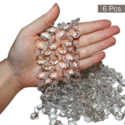 Set Cadenas Cristal Pack 6 - cada 1m Largo - Cristal