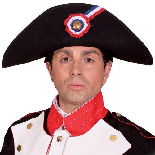 WOOOOZY Hut Napoleon, schwarz, - Napoleon Kostüm Hat