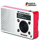 TechniSat Energy-Edition Digital-Radio (klein, tragbar, mit Lautsprecher, OLED-Display, DAB+, UKW, Favoritenspeicher, Direktwahltaste zu Energy, geeignet für Outdoor) weiß/rot