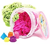 #2: Akhand 500 Grams Active Sand Clay for Kids to Play with Shape Moulds Toy, Multi Color