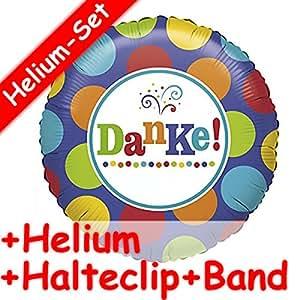 * Merci. + Set de Ballon Gonflable Helium Garnissage + Clip + Ruban * pour se remercier//Ballon Décoration Ballon Helium Aluminium gaz Devise GEFALLEN Multicolore