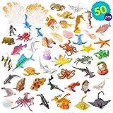 50 verschiedene Spielzeug Meereslebewesen Fische/Tierfiguren für Kinder - Große Auswahl an bunten Spielzeug Fische Tierfiguren, ideal für Kinder Party Mitgebsel Partytaschen, Pinata, Dekoration