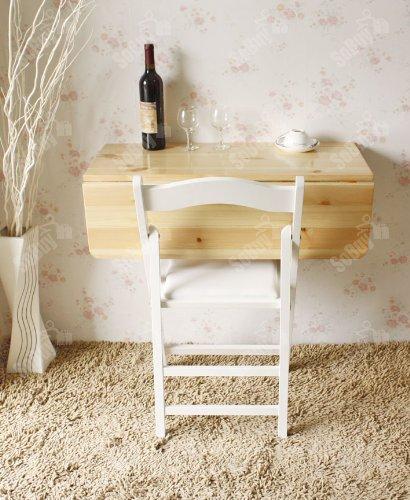 Tavolo Da Muro Pieghevole.Sobuy Tavolo Da Muro Pieghevole In Legno 80 60cm 2x Pieghevole