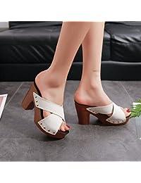 HBDLH Joker Donna Summer Pantofole Fuori Porta Si Trascina Fico Pantofole China Tallone Impermeabile Piattaforma Spessa Basso…