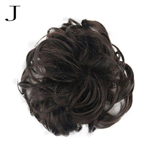 Luckhome Lockige Unordentliche Haargummis, Haarknoten, Dutt, Haarverlängerung, Natürliches Lockiges Gewelltes Haarteil Für Damen Frauen Unordentliches Brötchen Haar Wirbel Stück Scrunchie ()