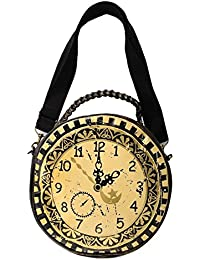 Banned Gótico Steampunk Negro Marrón Redondo Reloj Hombro Bolso De ...