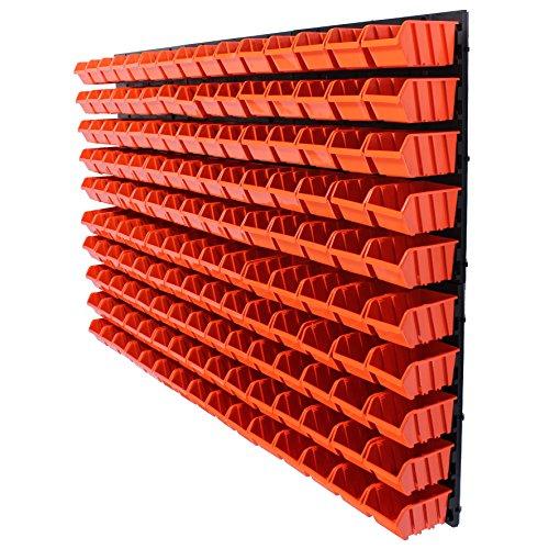 Preisvergleich Produktbild 156 tlg.Wandregal Regal + Stapelboxen Gr. 1 Box Werkstatt Lagerregal Regalsystem ( 7 teilige bis 156 teilige Sets zum Hammerpreis! )