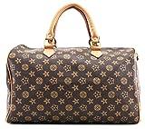 Gossip Girl - Designer Check Barrel Bowling Boston Duffle Bag Handbag With Long