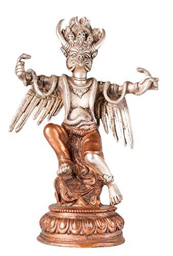 Garuda, plaqué argent/cuivré