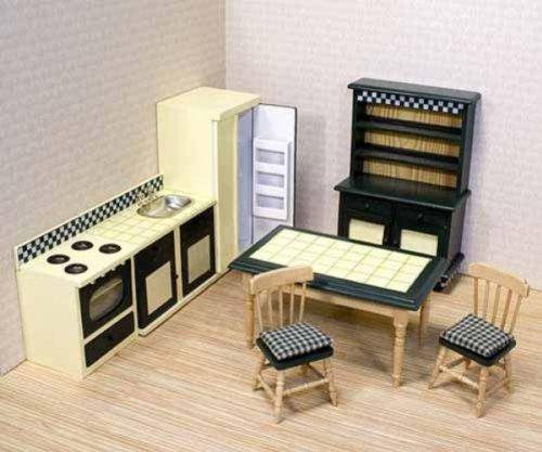 Mobile casa delle bambole vittoriano Cucina Legno