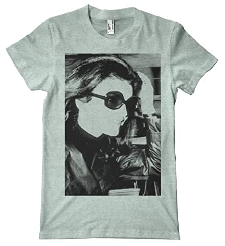 Paparazzi Series - Jackie Kennedy American Apparel T-Shirt, Ash Grey Seafoam, Small