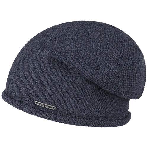 Stetson Dicata Wool Beanie mit Futter Wintermtze Wollmtze Damenmtze Herrenmtze Damen/Herren | Herbst-Winter | One Size dunkelblau Wool Beanie Herren