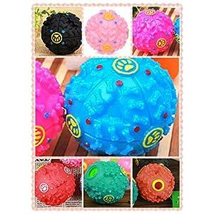 Balle Boule Sonore Distributeur Croquette Nourriture Jouet Boule de jouet pour Chien Animaux -couleur aleatoire--S size