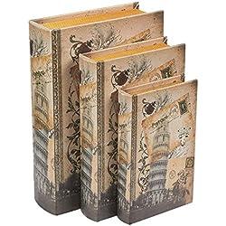 Juvale Livre Boîtes, 3Différentes Taille/Lot Tower of Pisa Design