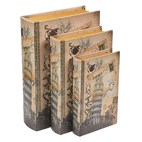 Juvale Libro Caja de Seguridad - 3-Pack Falso Hueco Libros, Ahuecado Decorativos de imitación Libros...