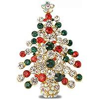 Bambini Spilla Pin Epoca Diamante Albero Di Natale Accessori Regali Di Natale - Bambino Epoca Spilla Gioiello