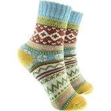 cosey - bunte Socken in Norweger Design hellblau (33 – 40) - 2 Paar