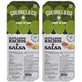 Colonel & Co Chip N Dip Olive and Herb Nachos with Salsa, 75g (Pack of 2)