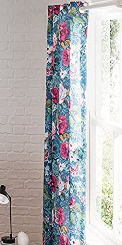 Catherine Lansfield Floral Garden Eyelet Curtains 66x72-Inch,