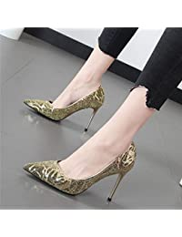 Xue Qiqi Punta Dorada 亮 wedding shoes compañeros madre wedding shoes multa con luz de noche del alto-Heel Shoes...