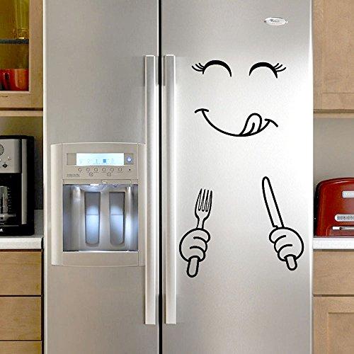 Strung Schön Aufkleber Kühlschrank Happy Delicious Gesicht Küche Kühlschrank Wandaufkleber Wandbild Home Dekoration Wandtattoo Wand Dekoration Hauptdekor