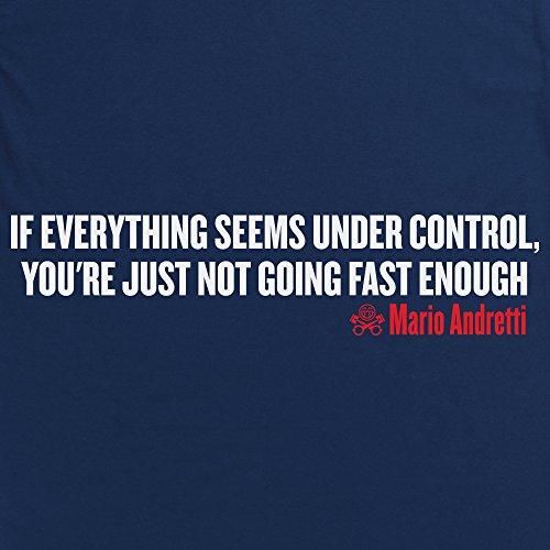 PistonHeads - Mario Andretti Quote T-Shirt, Damen Dunkelblau