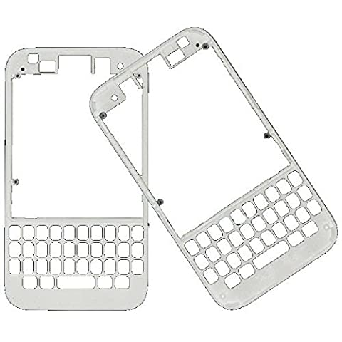 Bislinks® Boitier façade avant Blanc structure extérieure autoradio Façade de rechange pour Blackberry Q5