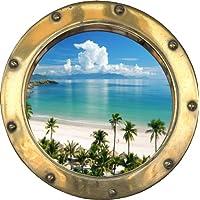 Youdesign H314 - Pegatina adhesiva de portilla al océano (30 x 30 cm)
