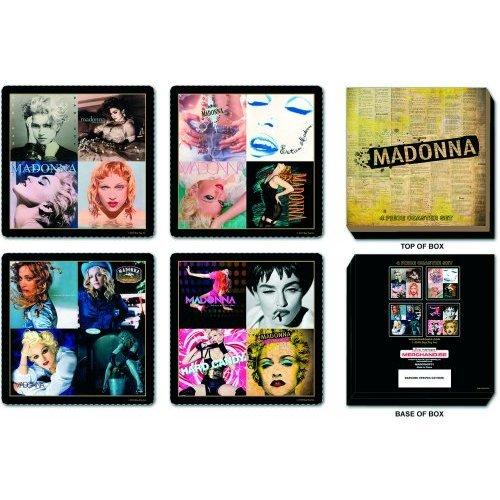 Madonna - sottobicchiere Coaster Set di 4 (Madonna Mix). .. Ottima confezionati in cartone cofanetto!
