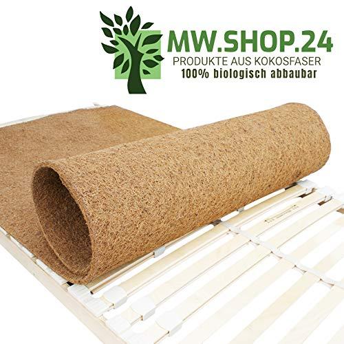 MW.Shop.24 Hochwertiger Kokosfaser für Lattenrost (180X200cm) - ATMUNGSAKTIVER/Anti-ALLERGISCH/GEGEN MILBEN Matratzenschoner - Schützende Matratzenunterlage - Made in EU