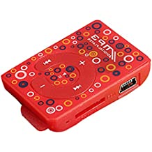 LANDFOX Mini USB Clip Digital Mp3 reproductor de música tarjeta de 8GB SD TF