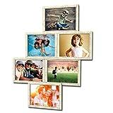 Fotogalerie für 6 Fotos 13x18 cm - 3D 603 Optik - Bilderrahmen Bildergalerie Fotocollage Rahmenfarbe Altes Holz