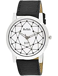 RELISH RE-S8026SW SLIM Black Dial Analog Watch For Mens & Boys