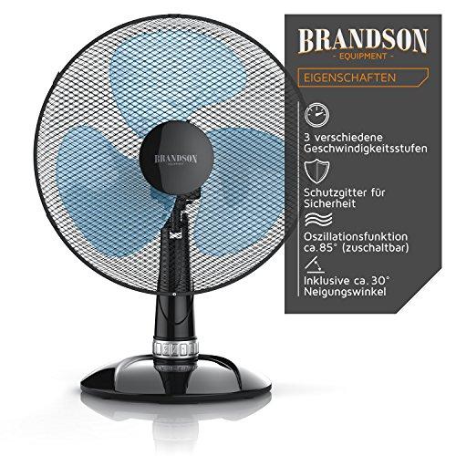 Brandson – Tischventilator Silent 30cm / schwarz - 4