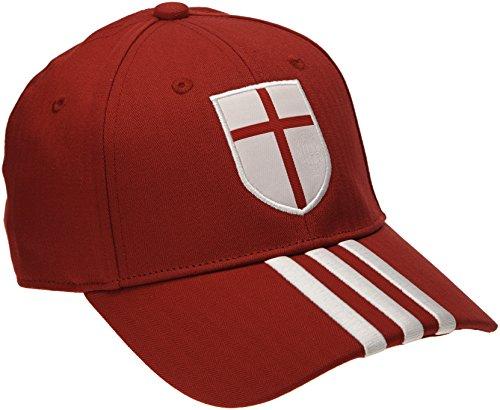 adidas Herren Kappe AC Milan 3-Stripes, Victory Red S04/Running White/Craft Red F12, One size, M60118 (White Stripe Beanie)