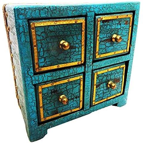 caja de madera de estilo antiguo tallado a mano material de almacenamiento caso de joyería maquillaje multifunción de la mujer chucherías verdes caja de objetos de regalo tradicional