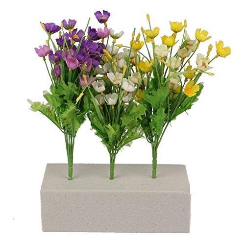 awhao Mousse pour Fleurs Artificielles Mousse pour Fleurs Séchées Arrangement de Fleurs Fausses (Gris)