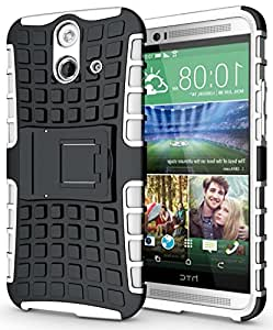 Heartly Back Case Cover For HTC One E8 (White)