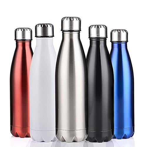 Vakuum Flasche, yanding® 750ml/25OZ Isolierte Edelstahl doppelwandig vakuumisoliert Wasser Flasche 24Stunden kalt oder heiß für Outdoor Sports Wandern Running, schwarz (Kalte Infusion Kaffee)