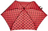 Lulu Guinness Women's Tiny Umbrella, Multicoloured (Lips Grid Red), One Size