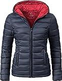 Marikoo Damen Winter-Jacke Steppjacke Lucy Blau Gr. M