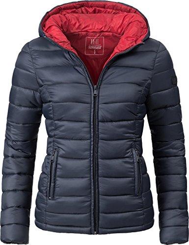 Marikoo Damen Winter-Jacke Steppjacke Lucy Blau Gr. L