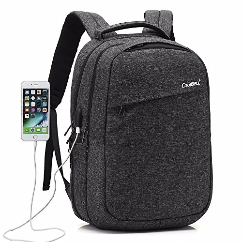 Fen Nylon Wasserdicht Business Rucksack Schultasche 39,6cm Laptop-Tasche (schwarz, grau) schwarz schwarz