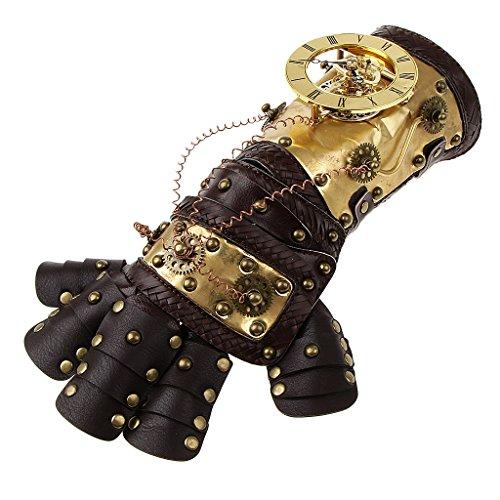 Homyl Steampunk Nieten Leder Arm Band Manschette Handschuhe Vintage Viktorianischen Kostüm Prop - Farbe 2