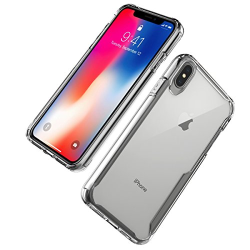 Forhouse ] Hülle iPhone X Ultra Slim Fit Soft Backcover Girls Hülle Back Shell Hülle for iPhone X (White) Ws Soft Shell