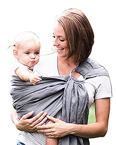 AugusWu Toddler Safety Harnesses Leashes Baby Sling Carrier Rings Grey